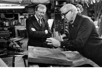 "Sam Maloof. ""I want to be able to work a piece of wood into"