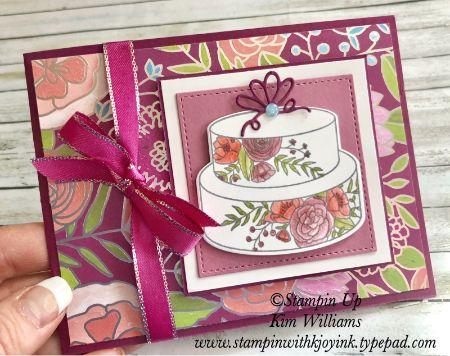Stampin' Up Cake Soiree Wedding Card