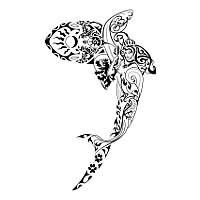 New Henna Style shark Tattoo