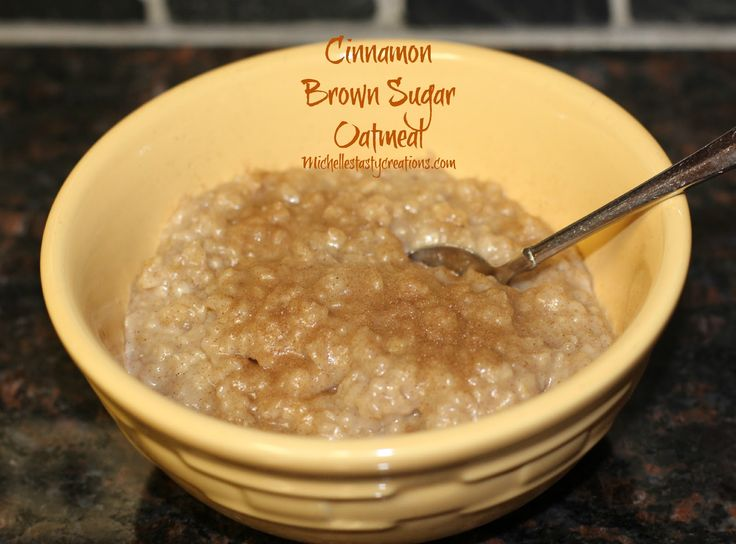 Michelle's Tasty Creations: Cinnamon Brown Sugar Oatmeal