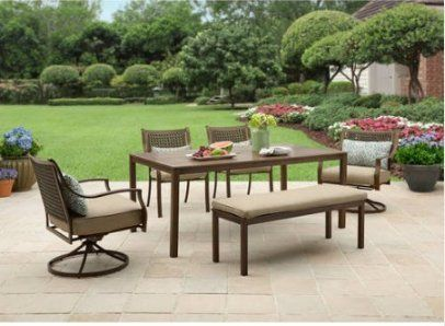 Lynnhaven Patio Furniture Dining Set By Better Homes And Garden, 6 Piece