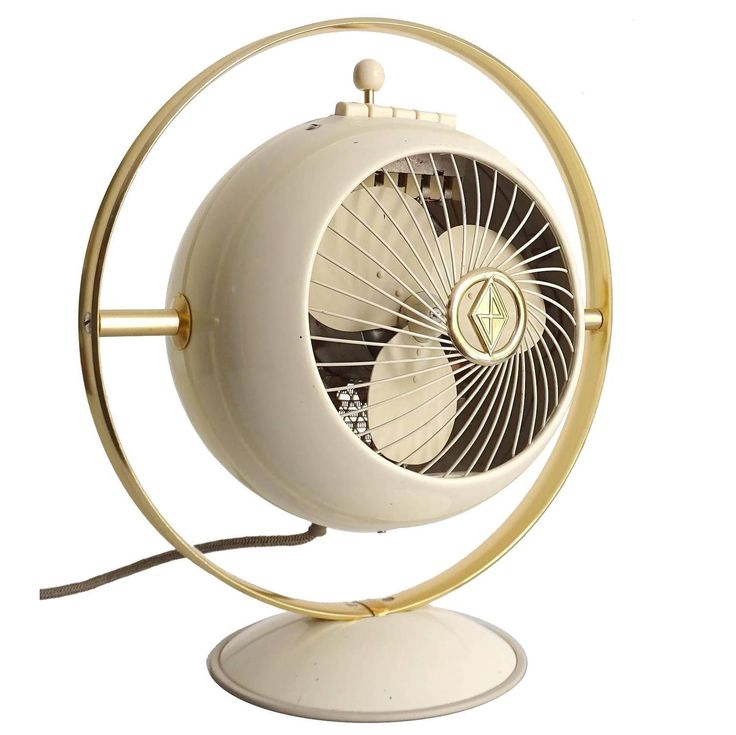Mid-Century Saturn Design Electric Fan, Space Age Modernist, 1950s Art Deco