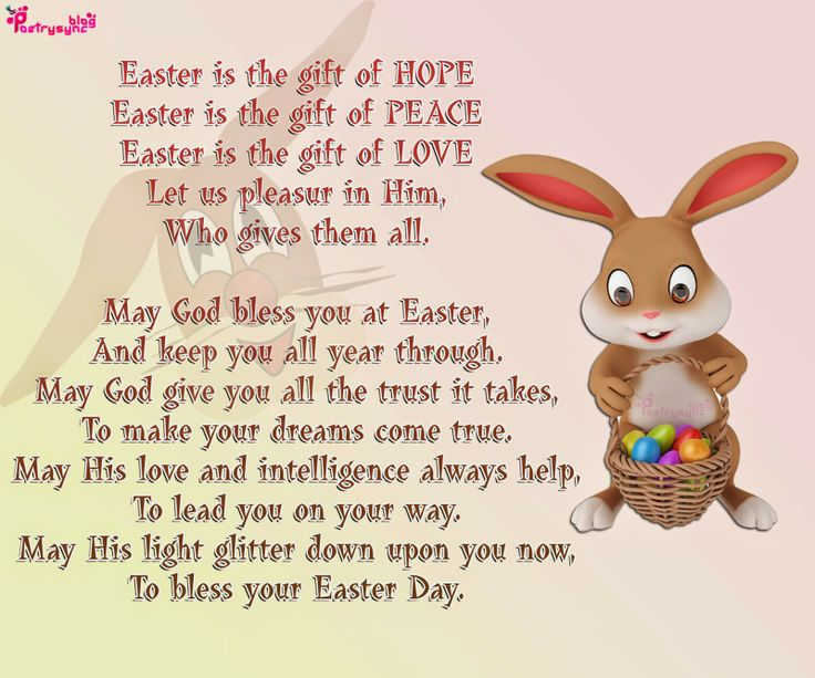 10 best easter day poems images on pinterest easter poems happy easter day poem image lovely bunny negle Image collections