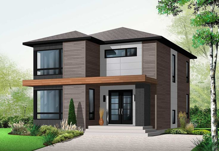 Stately Modern - 21998DR | 2nd Floor Master Suite, CAD Available, Canadian, Metric, Modern, Northwest, PDF, Photo Gallery | Architectural Designs