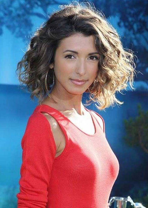 16 Short Hairstyles for Thick Curly Hair: #13. Thick Curly Wavy Short Bob Haircut