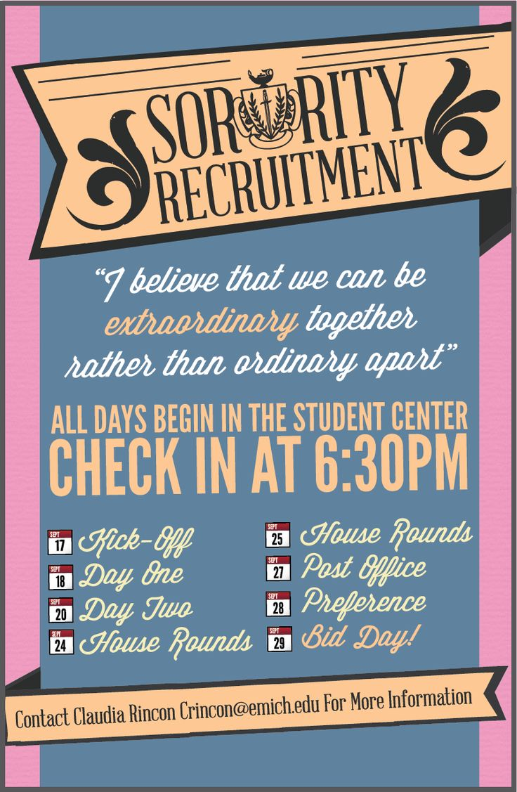 "Panhellenic recruitment theme: ""I believe that we can be extraordinary together rather than ordinary apart."""