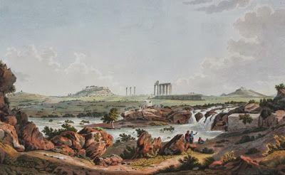 Ιλισσος (1821), Στο βάθος Ακρόπολη, Ολύμπειον & Λυκαβηττός