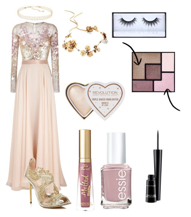 """Princess"" by danielle-bell-i on Polyvore featuring Amen, Lanvin, Oscar de la Renta, Panacea, Twigs & Honey, Too Faced Cosmetics, Huda Beauty, Yves Saint Laurent, Essie and MAC Cosmetics"