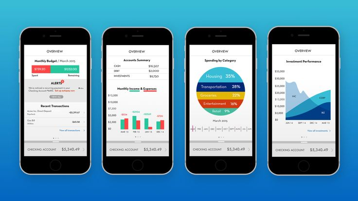 Insight Mobile Banking App - Dashboard