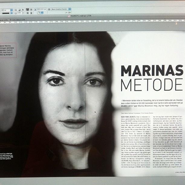 """@gallerifineart's photo: """"Neste utgave av #KUNST er på tegnebrettet! Les bl.a om #marina #abramovic. #magasin #performance"""""""