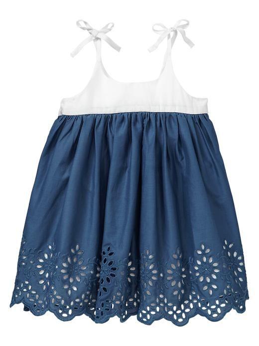 Gap | Eyelet colorblock dress