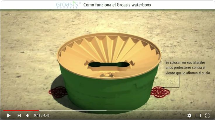 (78) (Con música) ¿Cómo funciona el Groasis waterboxx contra la desertificación? - YouTube