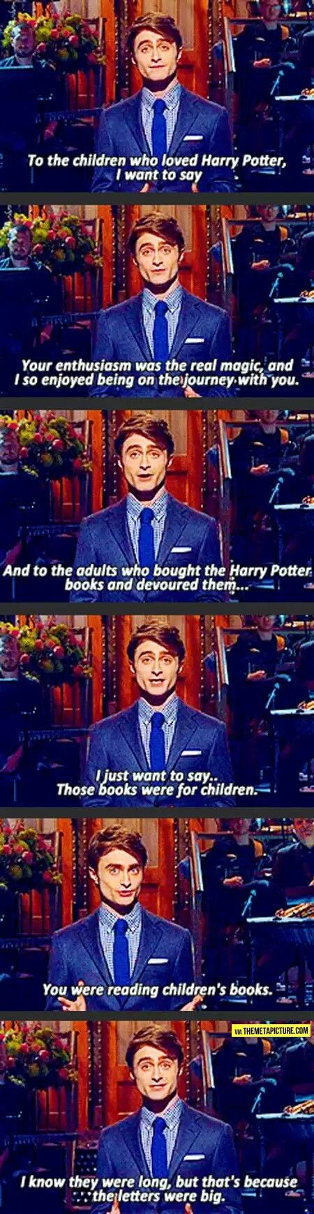 To all the older Harry Potter fans out there....Daniel on Saturday Night Live
