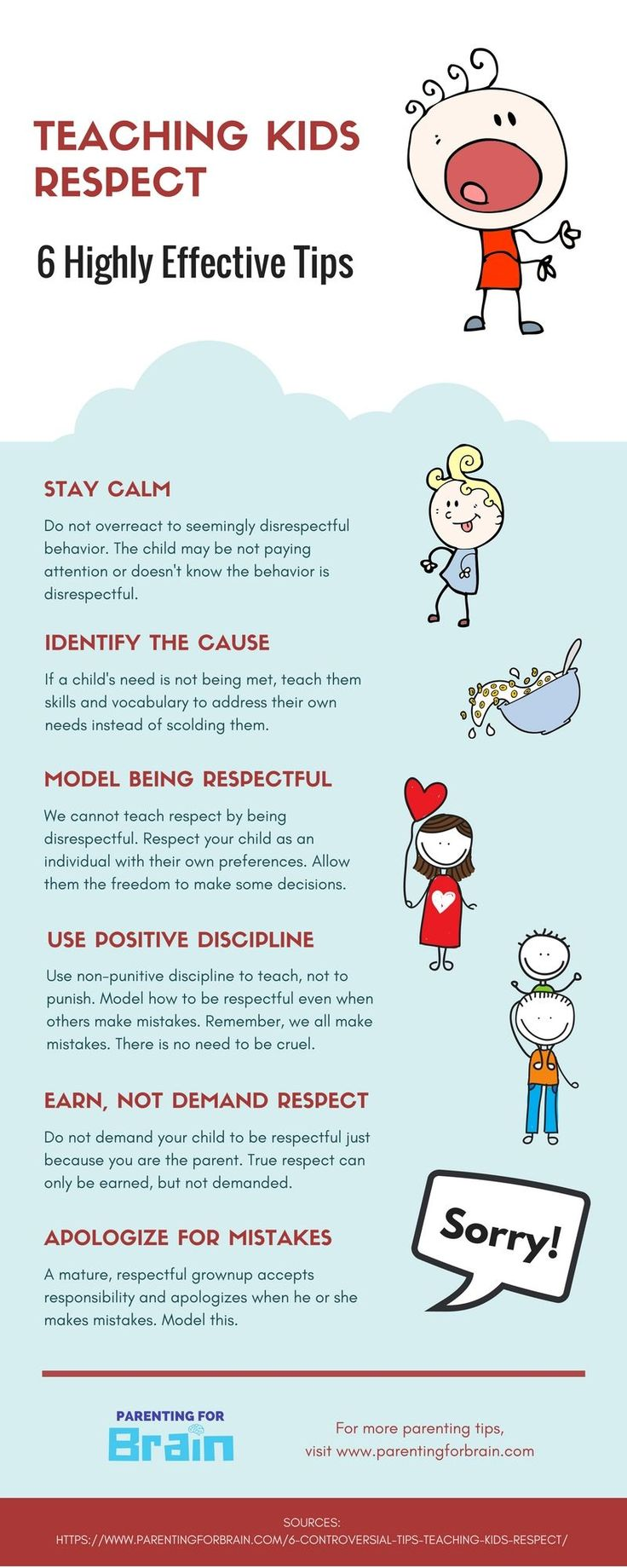 Respect Parents - Discipline For Kids #Parenting #Discipline #infographic