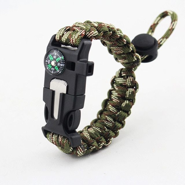 Outdoor Survival Braided Bracelet Men Women Paracord Bracelet