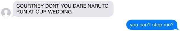 Naruto running at weddings?