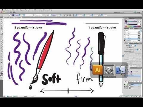 wacom pen pressure tutorial for illustrator brushes