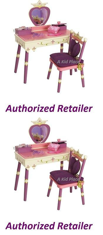 Other Kids and Teens Furniture 66744: Levels Of Discovery Princess Wooden Vanity Table, Chair And Mirror Pink Purple New -> BUY IT NOW ONLY: $229.95 on eBay!