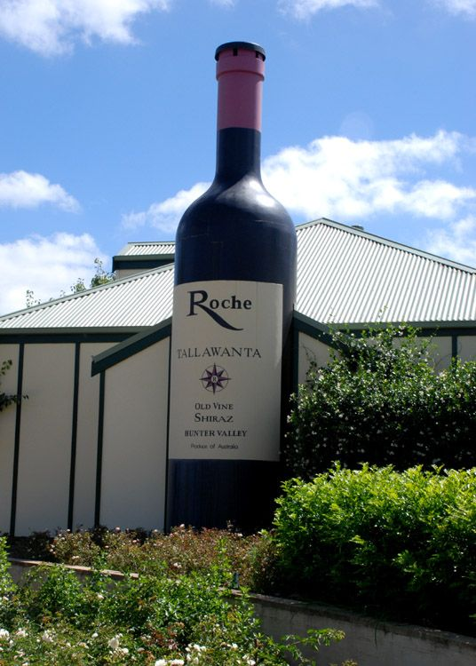 Giant Wine Bottle, Pokolbin, Hunter Valley Gardens, NSW.