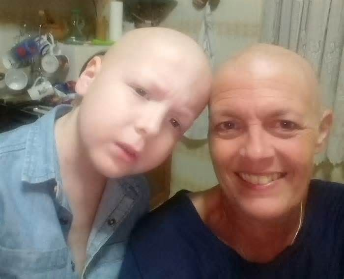 Mom diagnosed with breast cancer weeks after son starts leukemia treatment A mother is sharing how her 9-year-old son was diagnosed with leukemia twice, just six weeks before she found out she had breast cancer. Brave Abraham