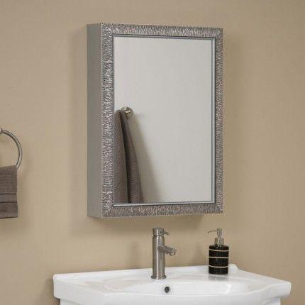 Sahara Aluminum Medicine Cabinet With Mirror