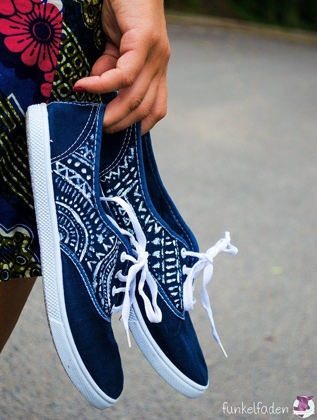 Schuhe färben und bemalen