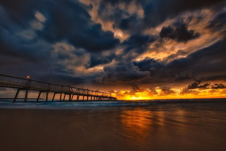 Wake up early to catch a magnificent sunrise in The Gold Coast of Australia.