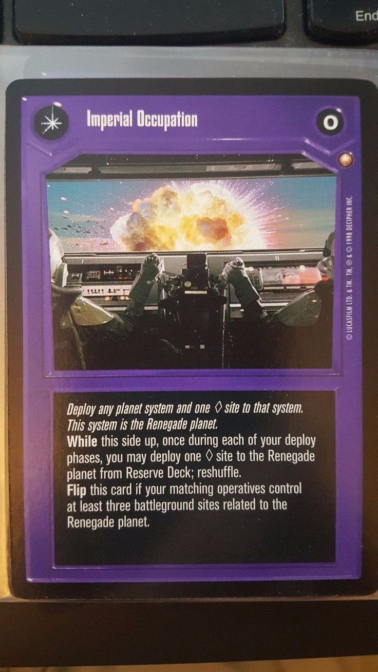 Star Wars CCG Special Edition Imperial Occupation NON-MINT