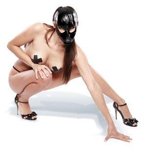 MASCHERA LATEX CON GAG BOCCA | Hot Sexy Boutique | Sexy Shop Brescia