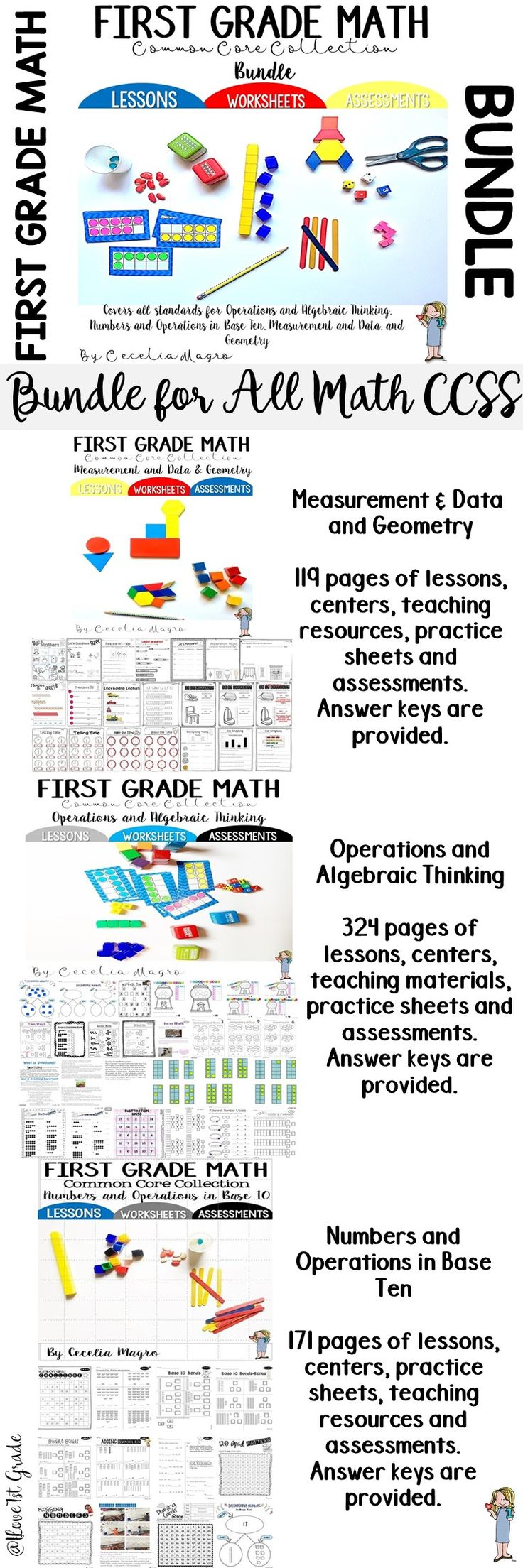 Worksheet First Grade Math Activities 17 best images about math for first grade on pinterest fact 614 bundled pages of original activities perfectly aligned to common core standards