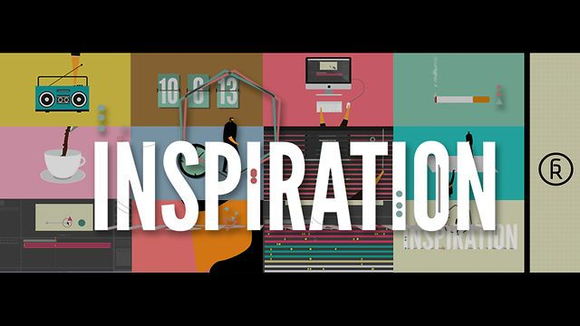 "INSPIRATION by Rafa Galeano. Personal Work. ""INSPIRATION"". All made in After effects, illustrator and Photoshop."
