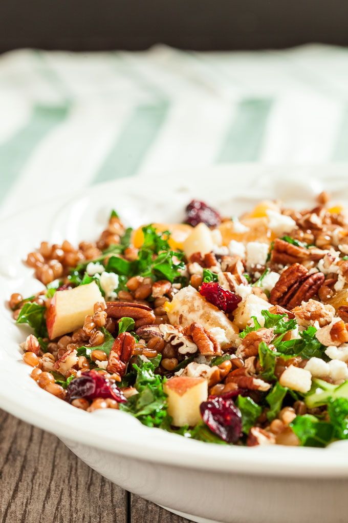 Wheat Berry Salad with Apples and Cranberries - Chew Out Loud