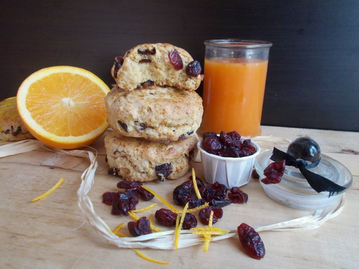Scones orange et cranberry