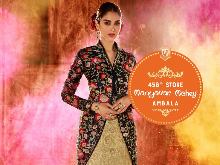Namaskar Ambala, India's leading #Celebration #Wear brand opens its 49th Mohey store in your city. Get your fill of lehengas, gowns, & more.