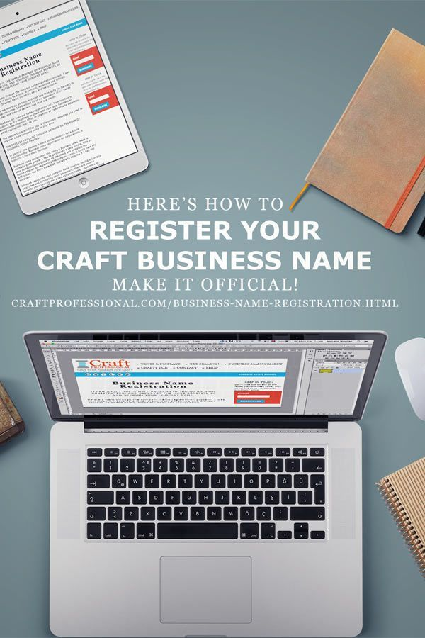 Good tips on registering you craft business name here http://www.craftprofessional.com/business-name-registration.html