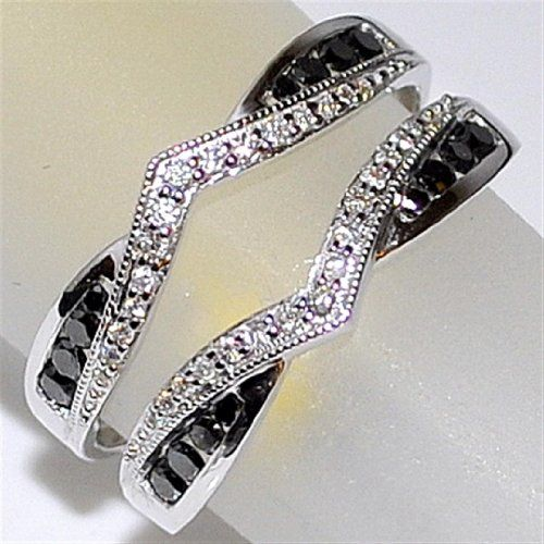 Black and White Diamond Jacket Ring 0.5ct 10k White Gold Ring Guard Enhancer Rings-MidwestJewellery.com,http://www.amazon.com/dp/B00DL2JVVS/ref=cm_sw_r_pi_dp_1vyAsb0RNJ02E8HR