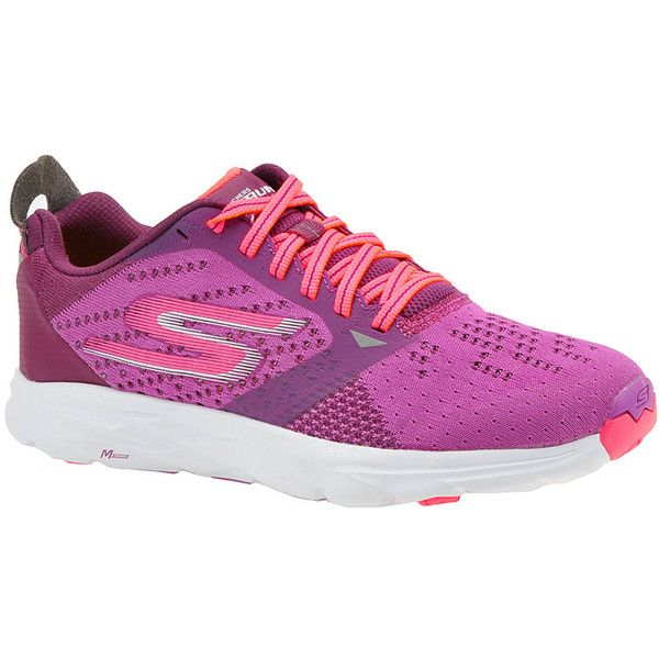 Skechers Performance Go Run Ride 6 Women's Purple Running 8 M ($95) ❤ liked on Polyvore featuring shoes, athletic shoes, purple, knit shoes, skechers athletic shoes, skechers footwear, purple shoes and strappy shoes