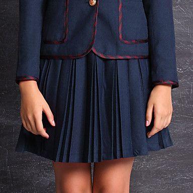 skoleuniformer solid plisseret nederdel (flere farver) – DKK kr. 165