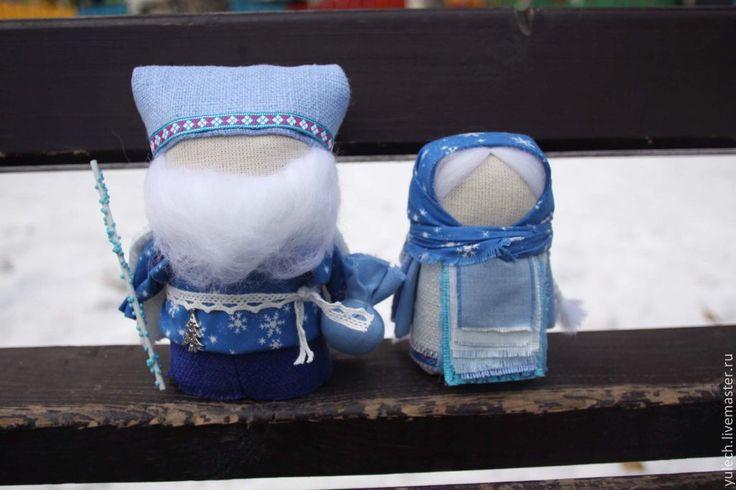 """Купить Русские куколки """"Дед Мороз и внучка Снегурочка"""" - народная кукла, Дед Мороз и Снегурочка"""