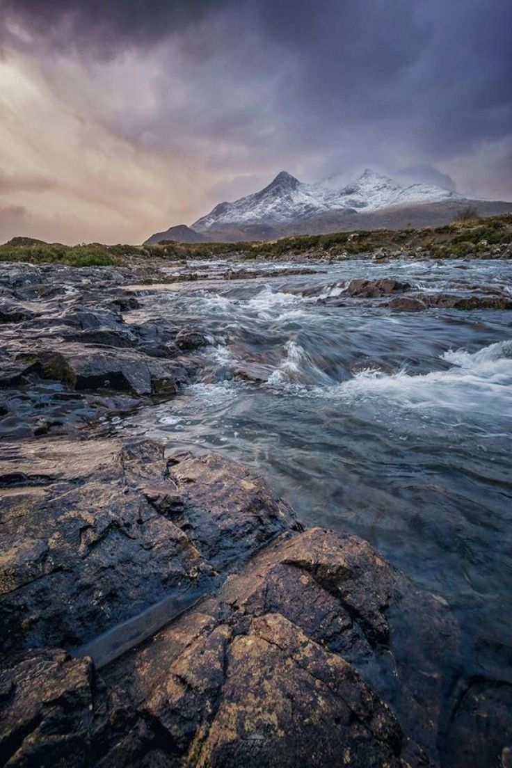This rocky mountain range, The Black Cullins, is located on the Isle of Skye. Robin Köhler