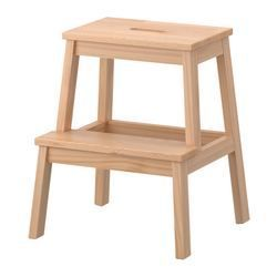 BEKVÄM Step stool - IKEA Extra seating, step stool for the top of the closet, boost-up to get onto your bed...These things are handy.