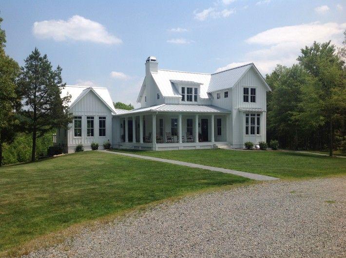 ordinary custom farmhouse plans #6: New white farmhouse in North Carolina. Rankin Road Project by John Marshall  Custom Homes. | Hooked on Houses | Pinterest | White farmhouse, North  carolina ...