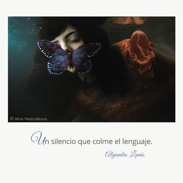 Un silencio que colme el lenguaje. #Umbrales #AlejandroLanus #Aforismos