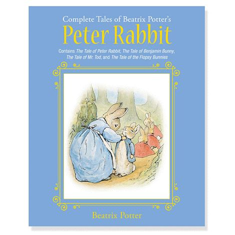 One of the best-selling children's books of all time! Four stories featuring the famous bunny, including: The Tale of Peter Rabbit, The Tale of Benjamin Bunny, The Tale of Mr. Tod, and The Tale of the Flopsy Bunnies. Hardcover. Ages 4+. 96 pages, 100+ colour illustrations. Books may only be returned in their original and unopened packaging.