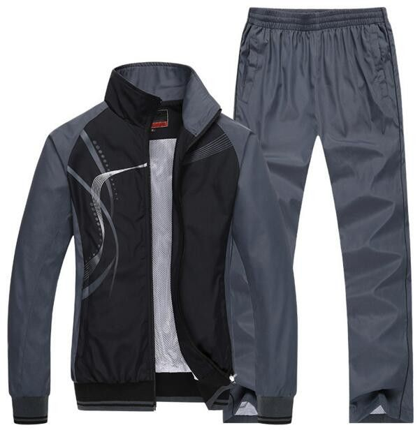 2016 men's sportswear man patchwork suits outwear brand tracksuits hoodies and sweatshirts mens Jackets+Pants 2Pcs plus size 5xl