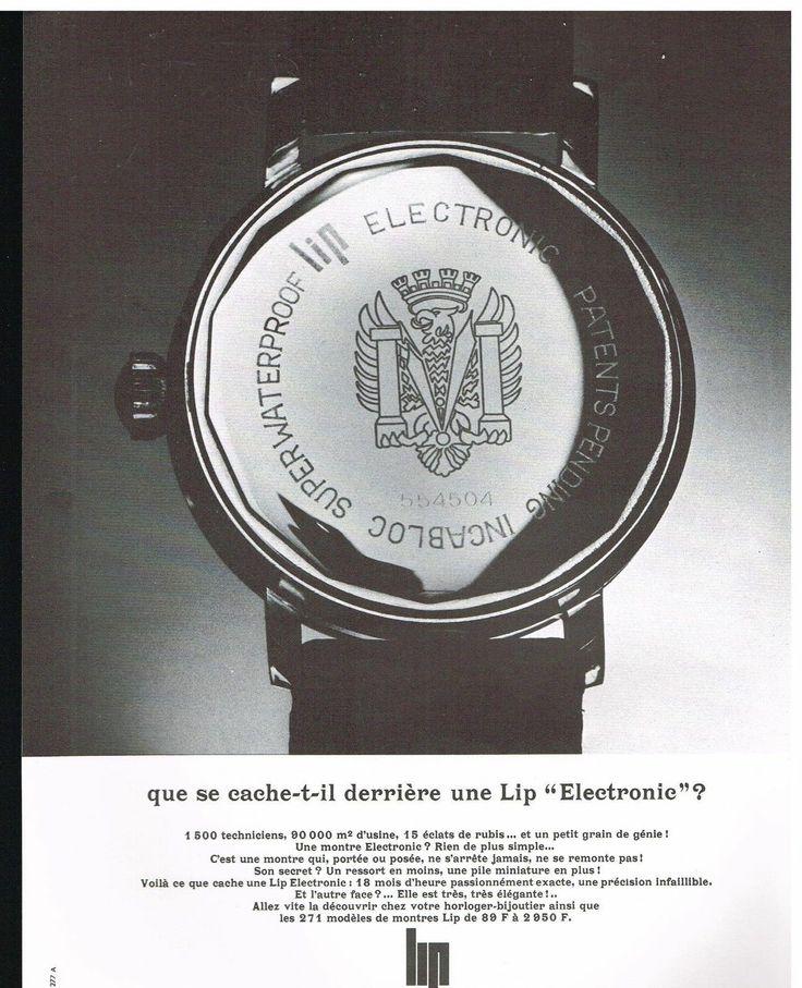 Publicité 1966 Montre LIP Electronic