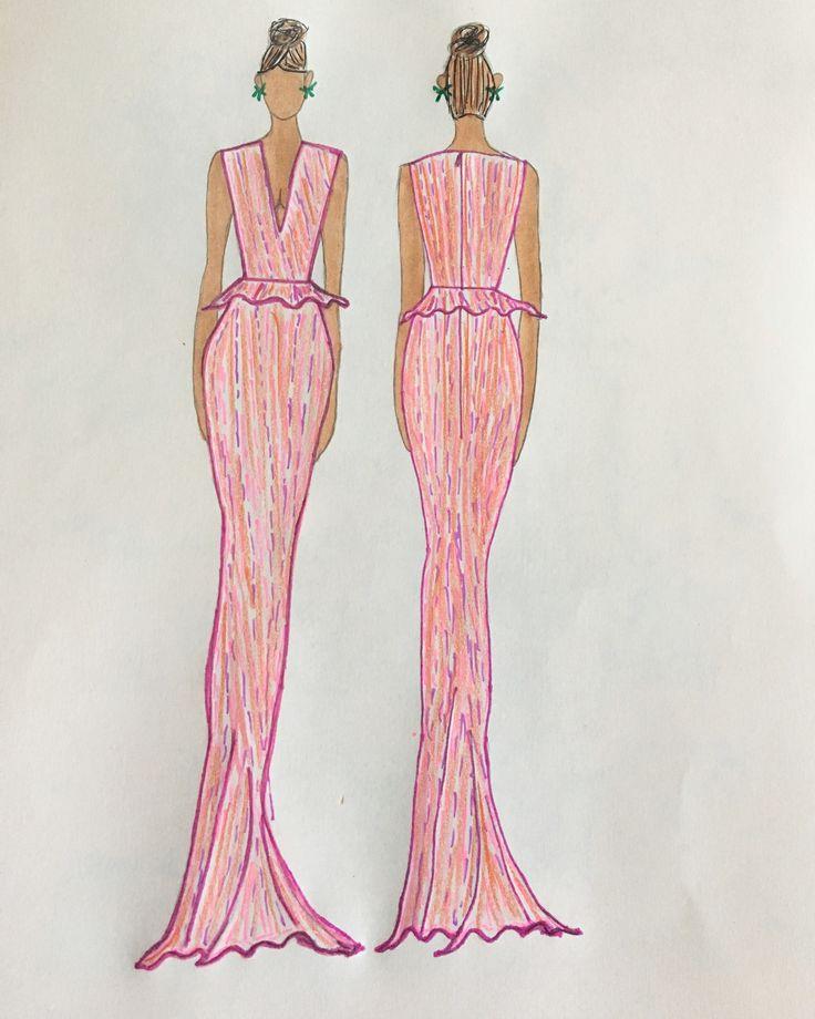 Mejores 91 imágenes de My Fashion Sketches en Pinterest   Bocetos de ...