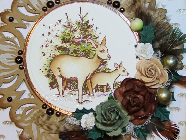 Winter deer - Yvonne Van Der Valk - Van de Grijp - Stempelglede :: Design Team Blog