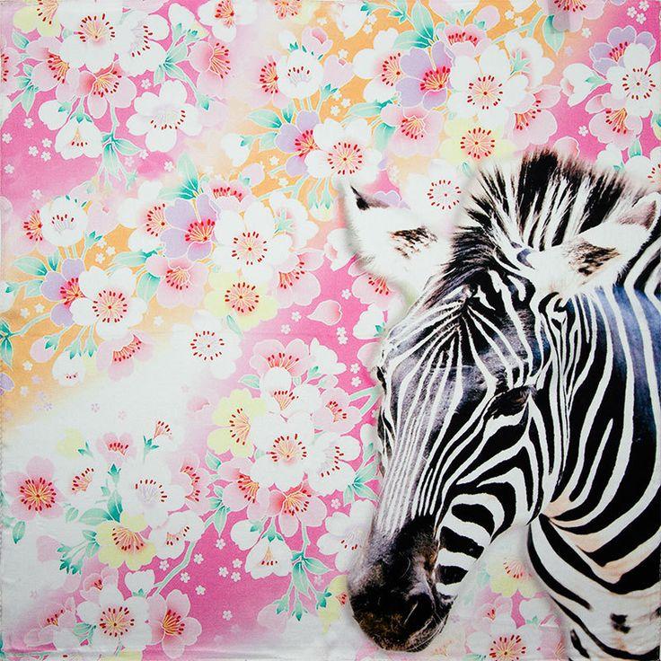 100% Silk Scarf Women Scarf Zebra Neckerchief Scarf Silk Bandana 2017 Top Print Small Square Silk Scarf Hot Luxury Gift for Lady