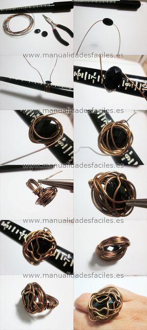 tuto bague en fil d'aluminium Fournitures sur : http://www.rentreediscount.com/Activites-manuelles,57722.html